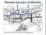 thematic map types ordinal line