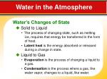 water in the atmosphere1