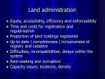 land administration