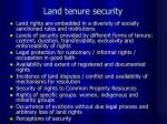land tenure security