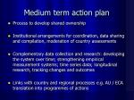 medium term action plan