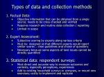 types of data and collection methods
