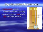 psychrometer hygrometer