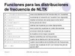 funciones para las distribuciones de frecuencia de nltk