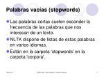 palabras vac as stopwords