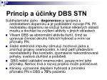 princip a inky dbs stn