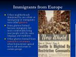 immigrants from europe1