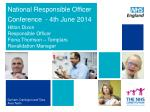 national responsible officer conference 4th june 2 01 4