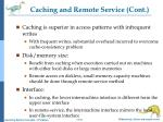 caching and remote service cont
