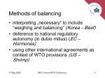 methods of balancing