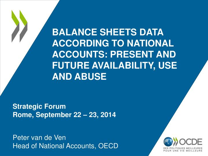 balance sheets data according to national accounts present and future availability use and abuse n.