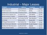 industrial major leases