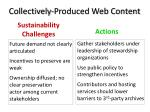 collectively produced web content