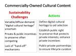 commercially owned cultural content