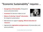 economic sustainability requires