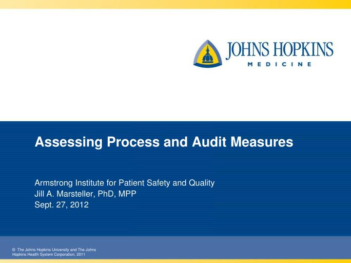 assessing process and audit measures n.
