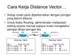 cara kerja distance vector