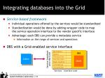 integrating databases into the grid