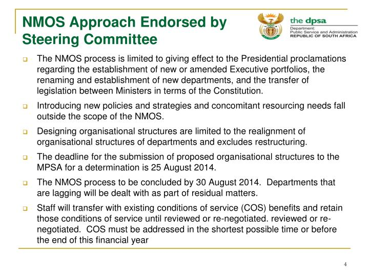 NMOS Approach Endorsed by