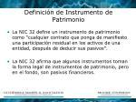 definici n de instrumento de patrimonio