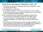 definici n de pasivo financiero nic 32