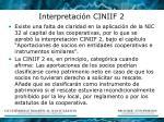interpretaci n ciniif 2