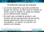 prohibici n parcial de rescate