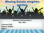 wasing estate stag hen parties