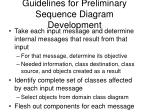 guidelines for preliminary sequence diagram development
