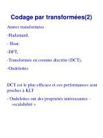 codage par transform es 2
