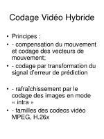 codage vid o hybride
