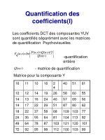 quantification des coefficients i