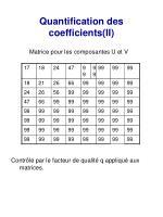 quantification des coefficients ii