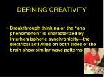 defining creativity1
