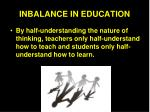 inbalance in education1