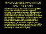 mindfullness innovation and the brain
