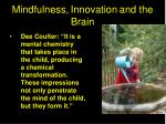 mindfulness innovation and the brain