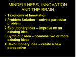mindfulness innovation and the brain1