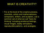 what is creativity4
