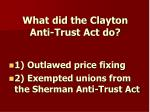 what did the clayton anti trust act do