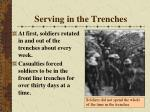 serving in the trenches