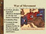 war of movement