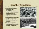 weather conditions