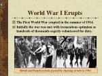 world war i erupts