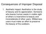 consequences of improper disposal