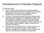 consequences of improper disposal1