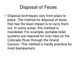 disposal of feces