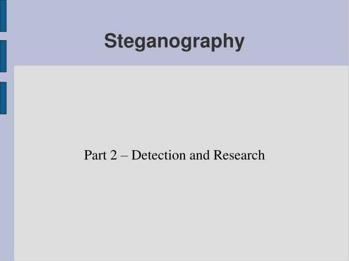part 2 detection and research n.