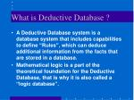 what is deductive database