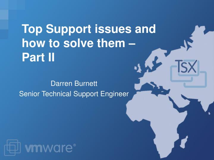 darren burnett senior technical support engineer n.